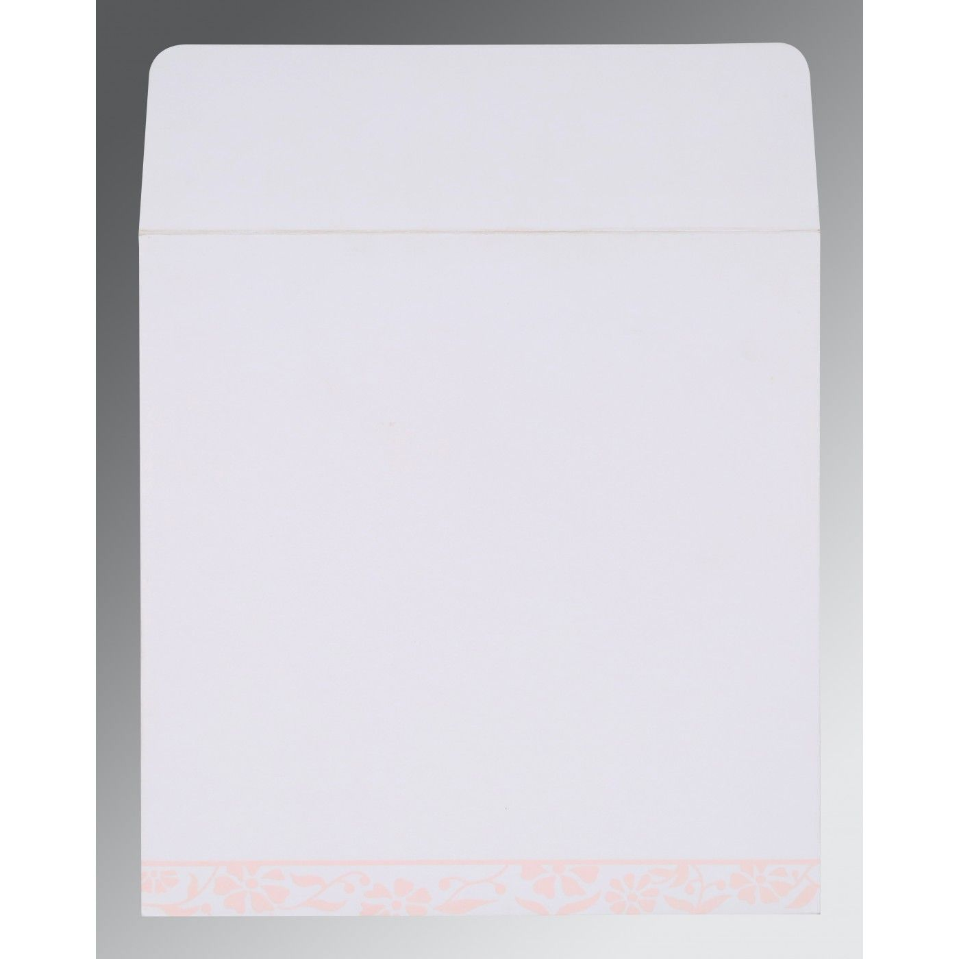OFF-WHITE MATTE FLORAL THEMED - SCREEN PRINTED WEDDING CARD : CI-8222N - IndianWeddingCards
