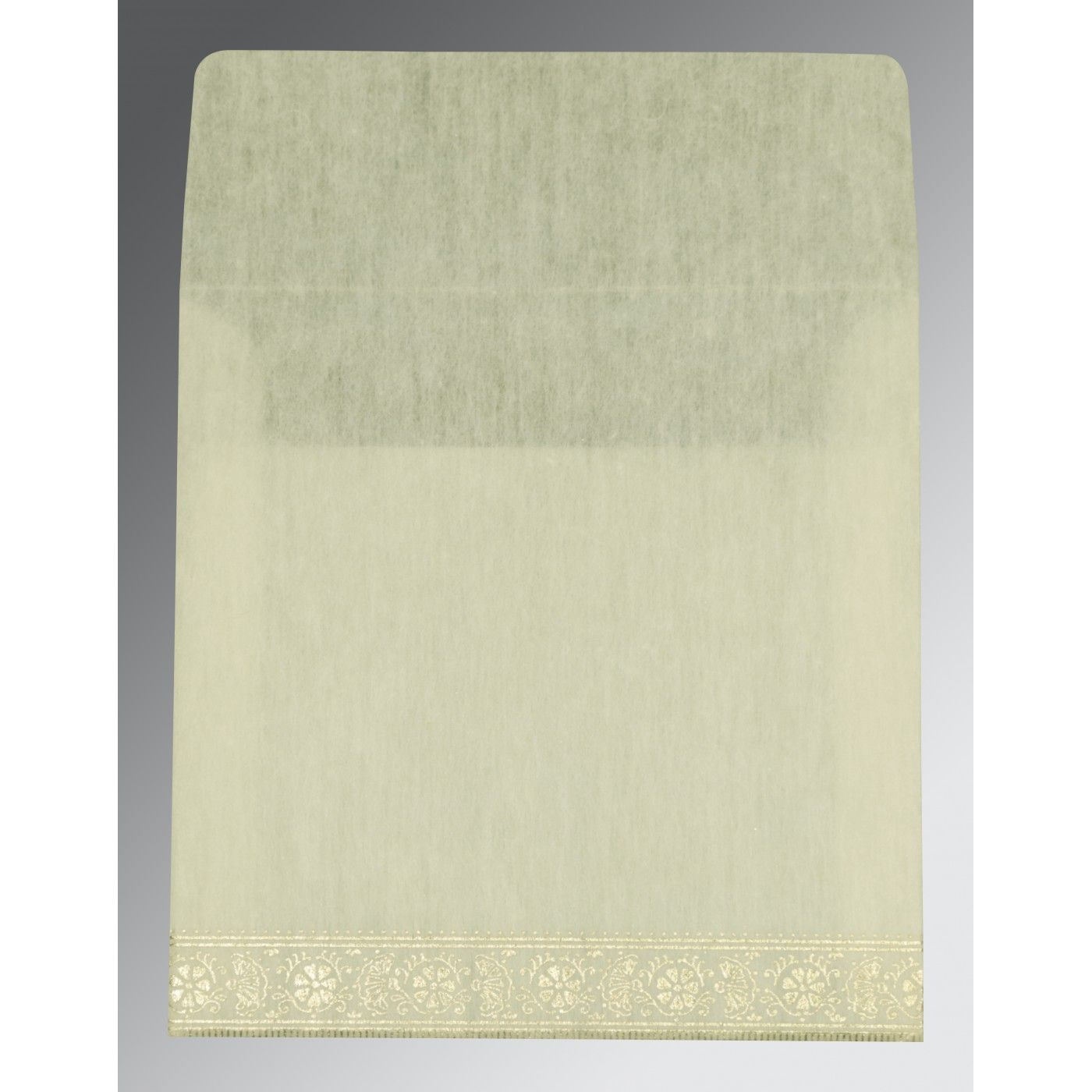 IVORY WOOLY FOIL STAMPED WEDDING CARD : CG-8242M - IndianWeddingCards