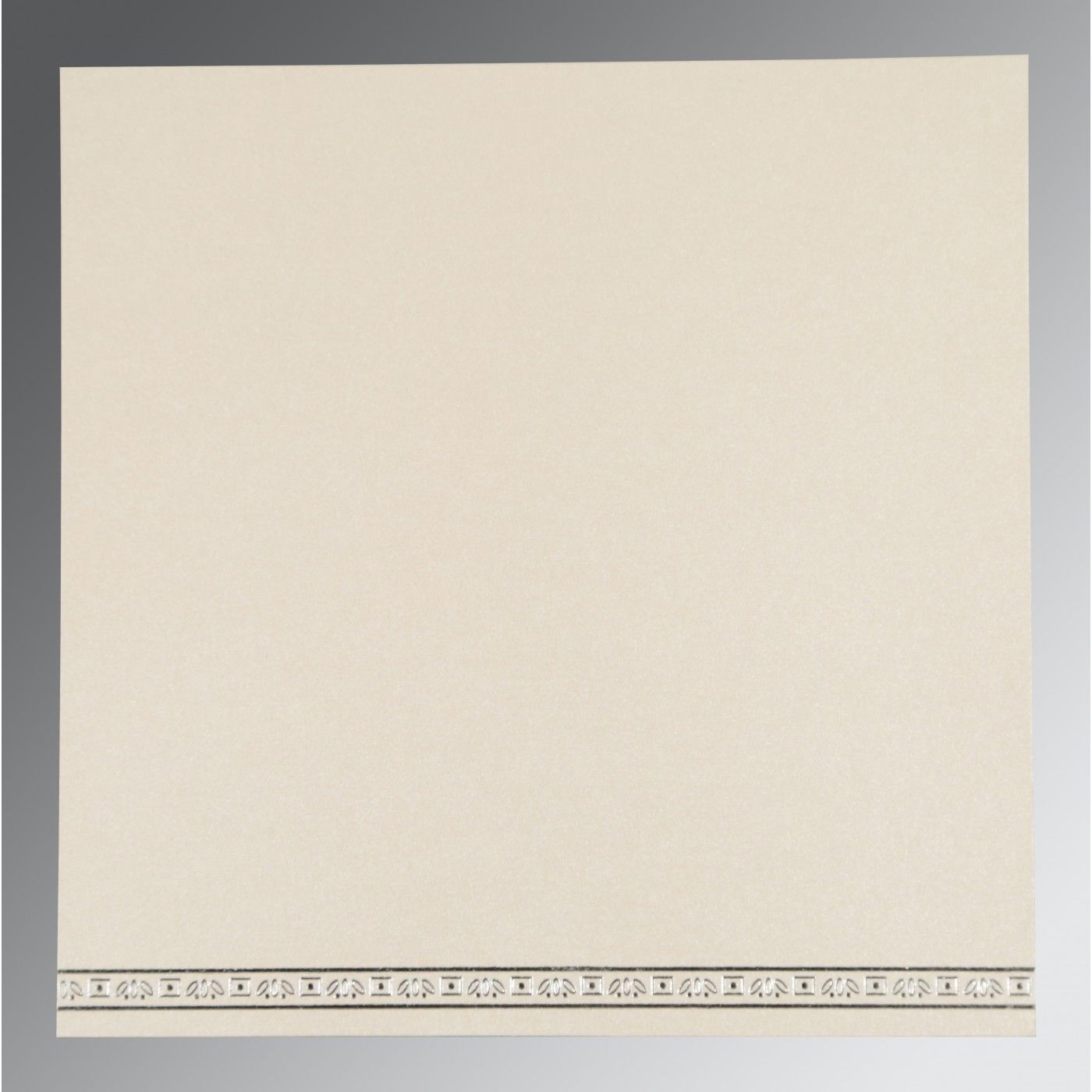 OFF-WHITE WOOLY FOIL STAMPED WEDDING CARD : CS-8242P - IndianWeddingCards
