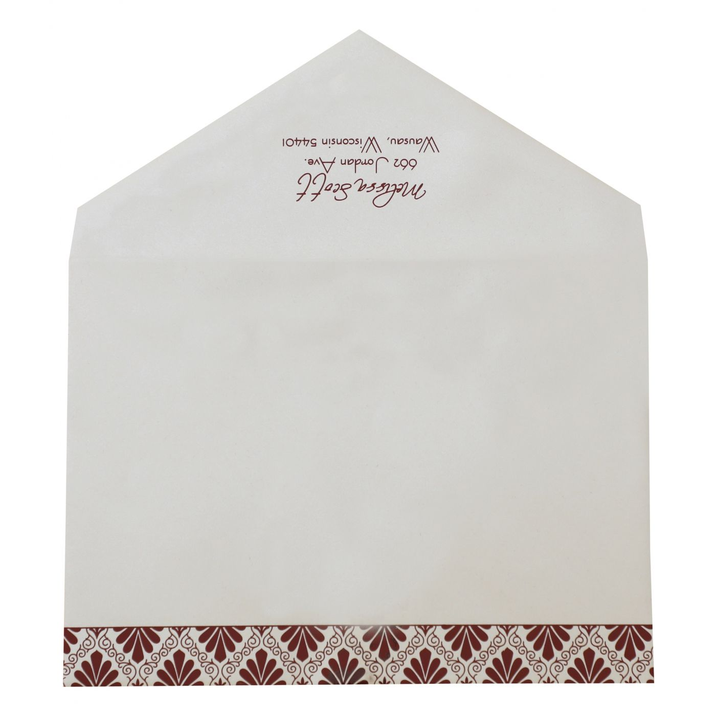 MAROON MATTE PAISLEY THEMED - SCREEN PRINTED PARTY CARDS : CPY-876 - IndianWeddingCards
