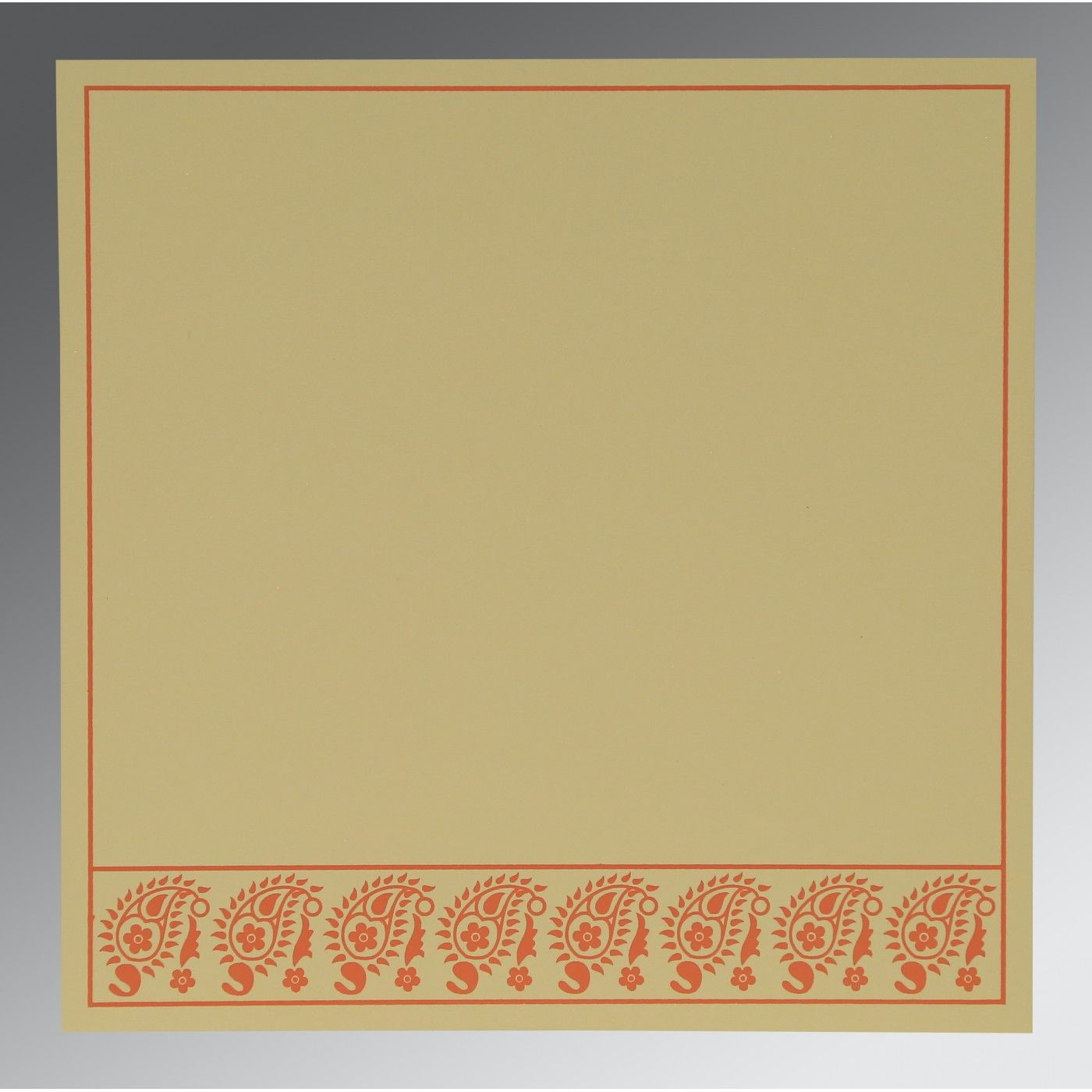 CORAL WOOLY FLORAL THEMED - SCREEN PRINTED WEDDING CARD : CI-8218E - IndianWeddingCards