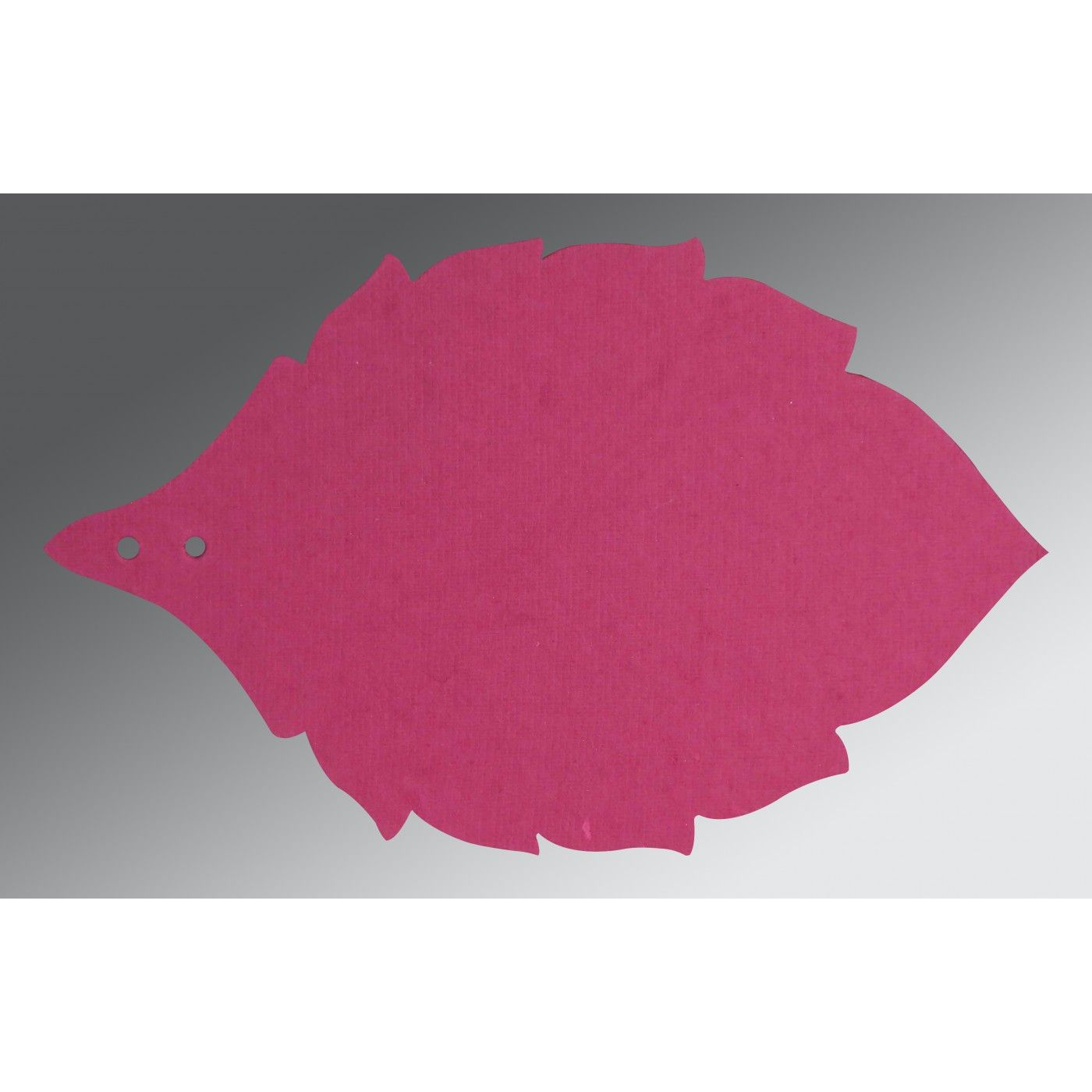 HOT PINK TRANSPARENT HANDMADE COTTON FLORAL THEMED - FOIL STAMPED WEDDING CARD : CSO-8219F - IndianWeddingCards