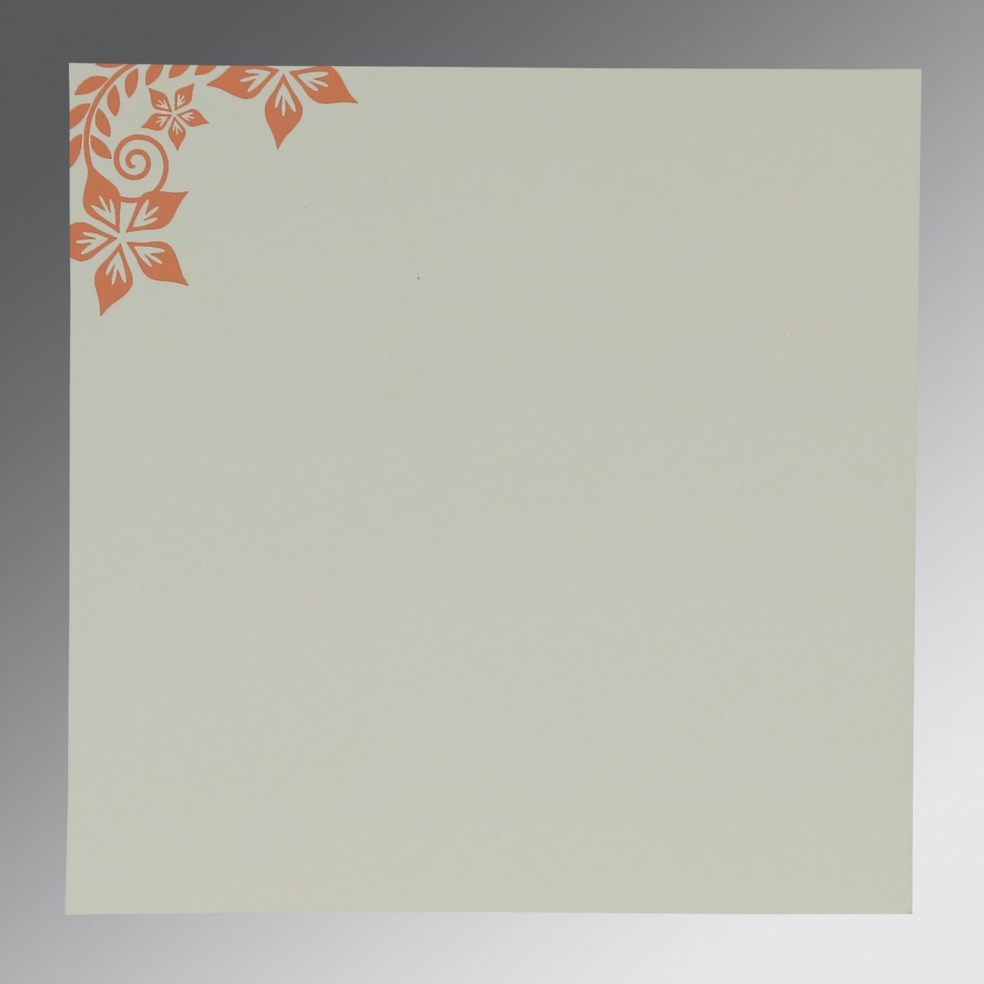 LIGHT BROWN MATTE FLORAL THEMED - SCREEN PRINTED WEDDING INVITATION : CI-8240H - IndianWeddingCards
