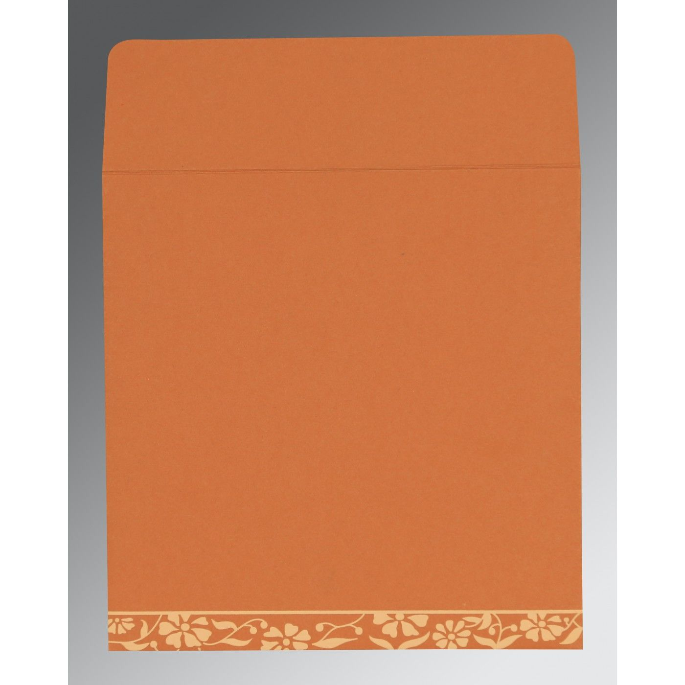PEACH MATTE FLORAL THEMED - SCREEN PRINTED WEDDING CARD : CSO-8222P - IndianWeddingCards