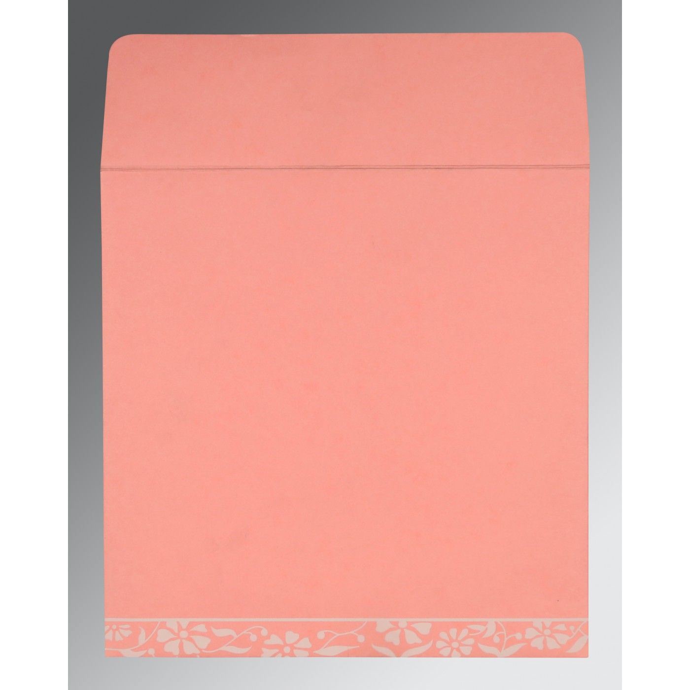 PINK MATTE FLORAL THEMED - SCREEN PRINTED WEDDING CARD : CW-8222E - IndianWeddingCards