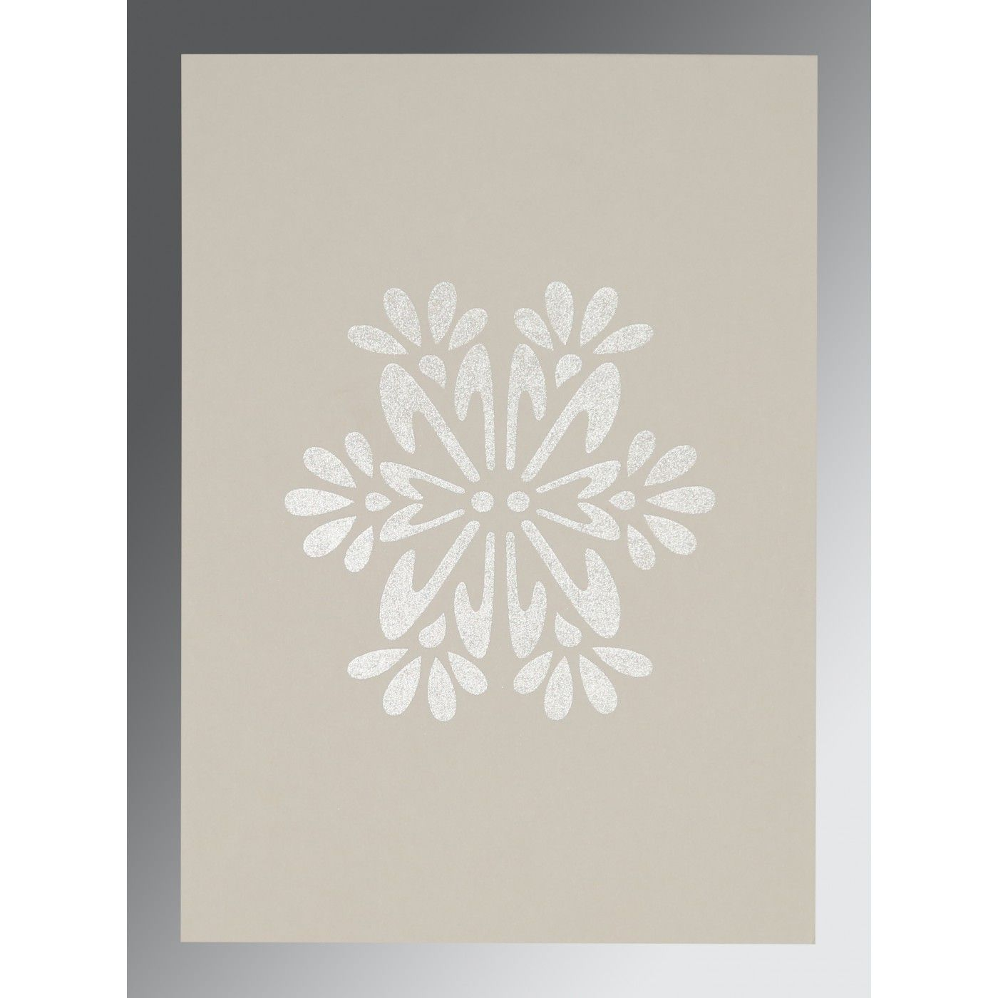 PURPLE MATTE FLORAL THEMED - FOIL STAMPED WEDDING INVITATION : CG-8237A - IndianWeddingCards