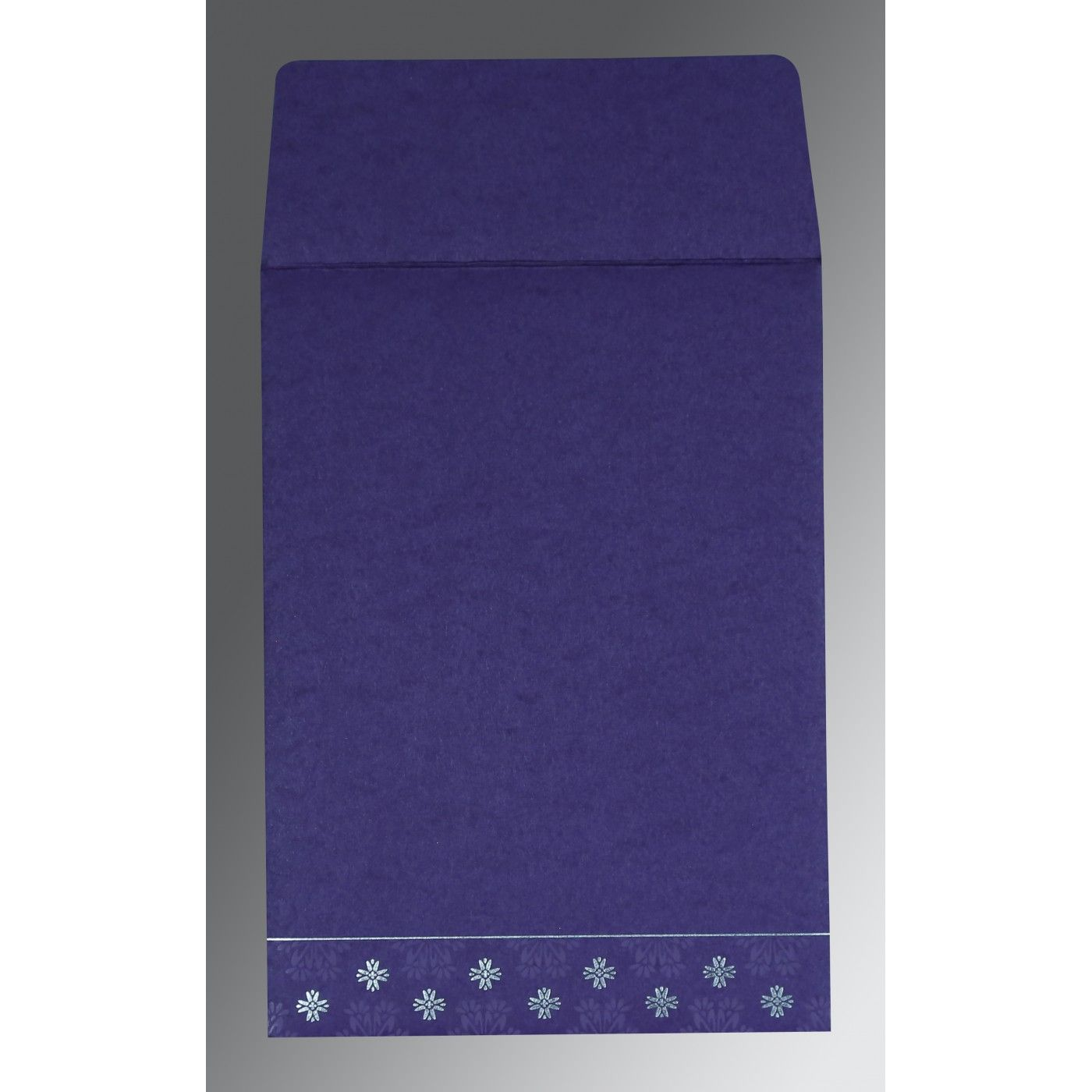 PURPLE MATTE FLORAL THEMED - FOIL STAMPED WEDDING INVITATION : CI-8237A - IndianWeddingCards