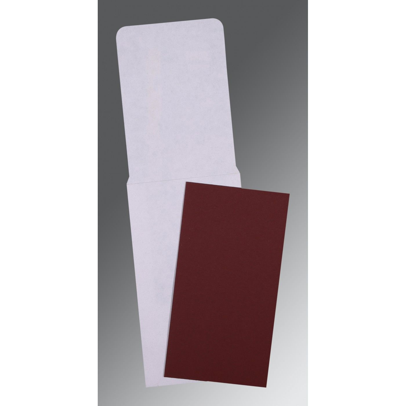 MAROON MATTE PERSONAL INVITATIONS : CP-0026 - IndianWeddingCards