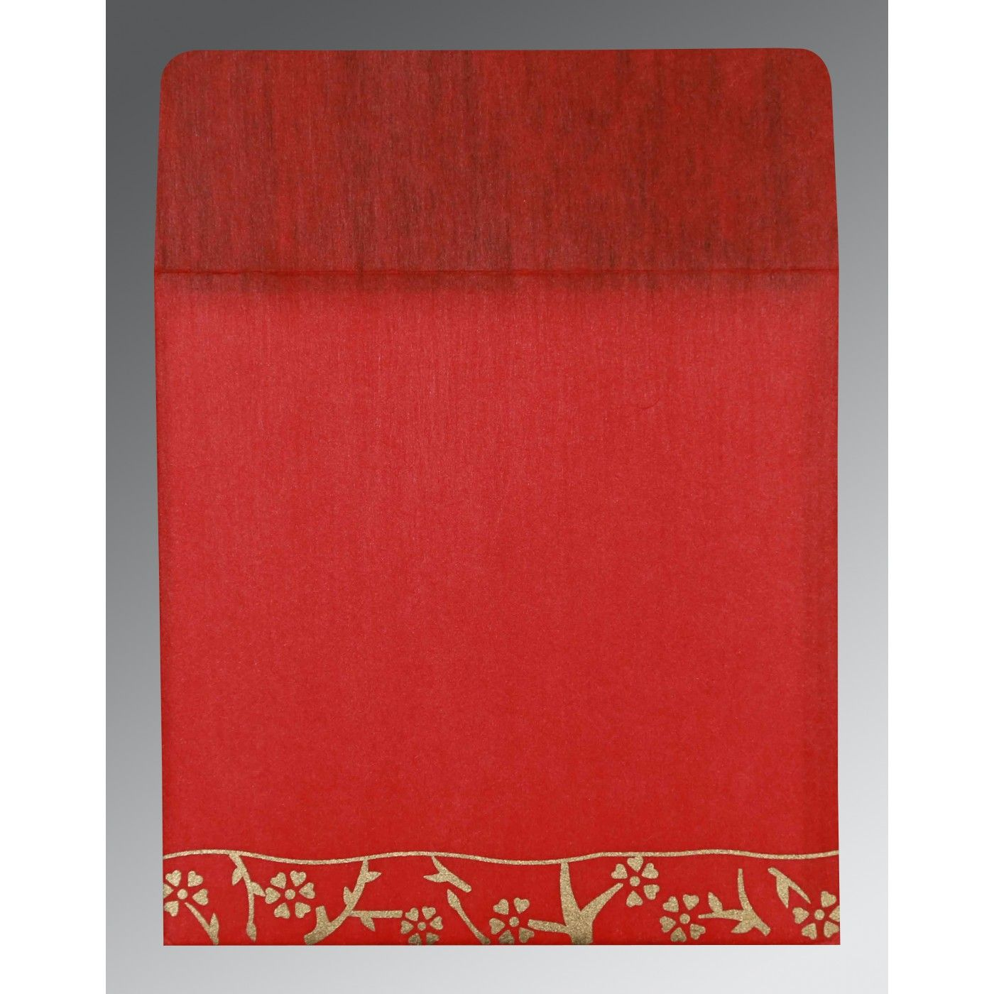RUBY WOOLY FLORAL THEMED - SCREEN PRINTED WEDDING INVITATION : CD-8216L - IndianWeddingCards