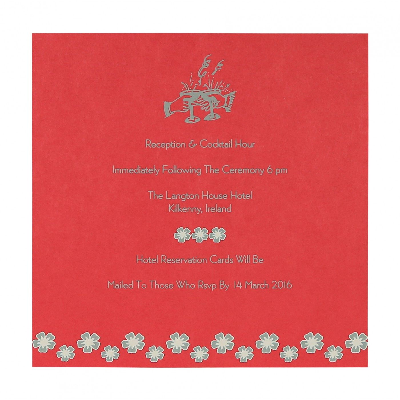 SILVER SHIMMERY BUTTERFLY THEMED - SCREEN PRINTED WEDDING CARD : CW-8258E - IndianWeddingCards