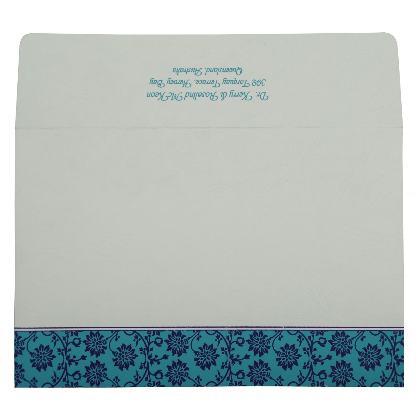 TURQUOISE MATTE FLORAL THEMED - SCREEN PRINTED WEDDING INVITATION : CG-810E - IndianWeddingCards