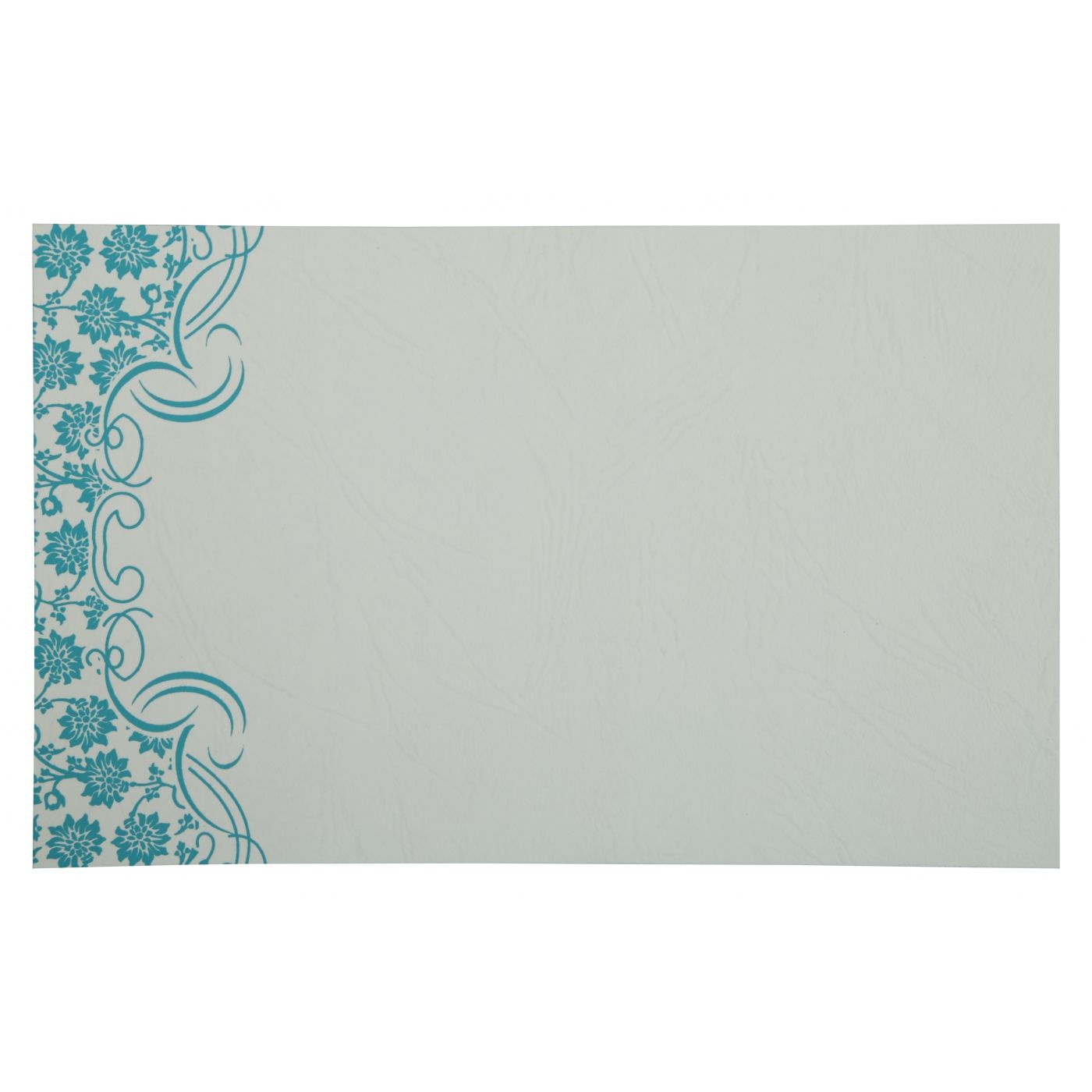 TURQUOISE MATTE FLORAL THEMED - SCREEN PRINTED WEDDING INVITATION : CI-810E - IndianWeddingCards