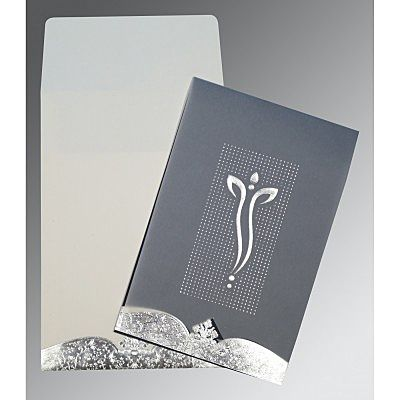 Ivory Foil Embossed Wedding Invitation : CIN-2279 - IndianWeddingCards