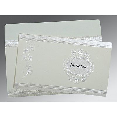 Ivory Matte Foil Stamped Wedding Card : CIN-1328 - IndianWeddingCards