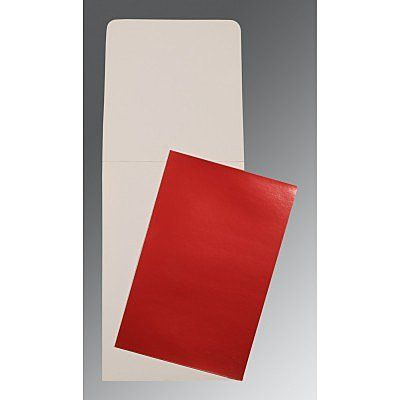 Red Glossy Wedding Card : CP-0007 - IndianWeddingCards