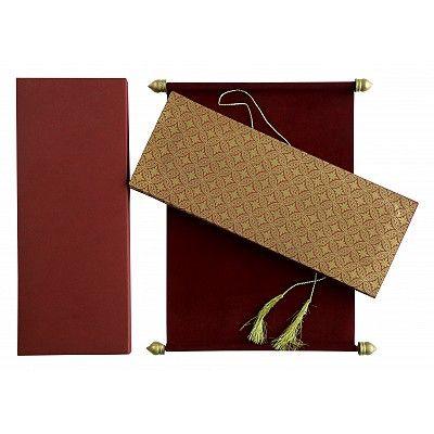 Red Velvet Wedding Invitation : CSC-5008D - IndianWeddingCards