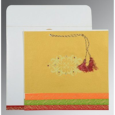 Screen Printed Wedding Card : CSO-1396 - IndianWeddingCards