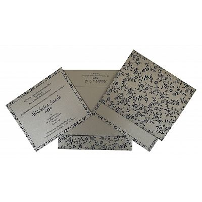 Shimmery Screen Printed Wedding Invitation : CS-804E - IndianWeddingCards