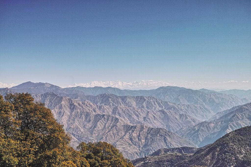 Garhwal Himalaya view from Benog Hill watchtower