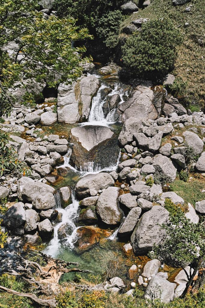 Nyund steam with its numerous eddies and waterfalls