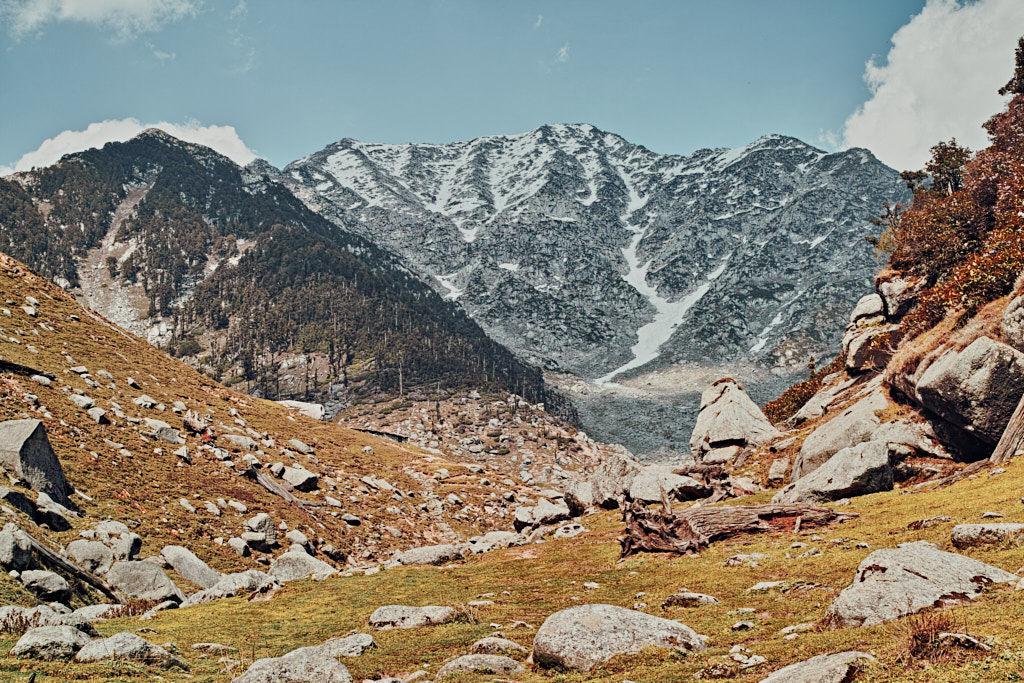 """Kareri lake with Dhauladhars and Minkiani pass"""