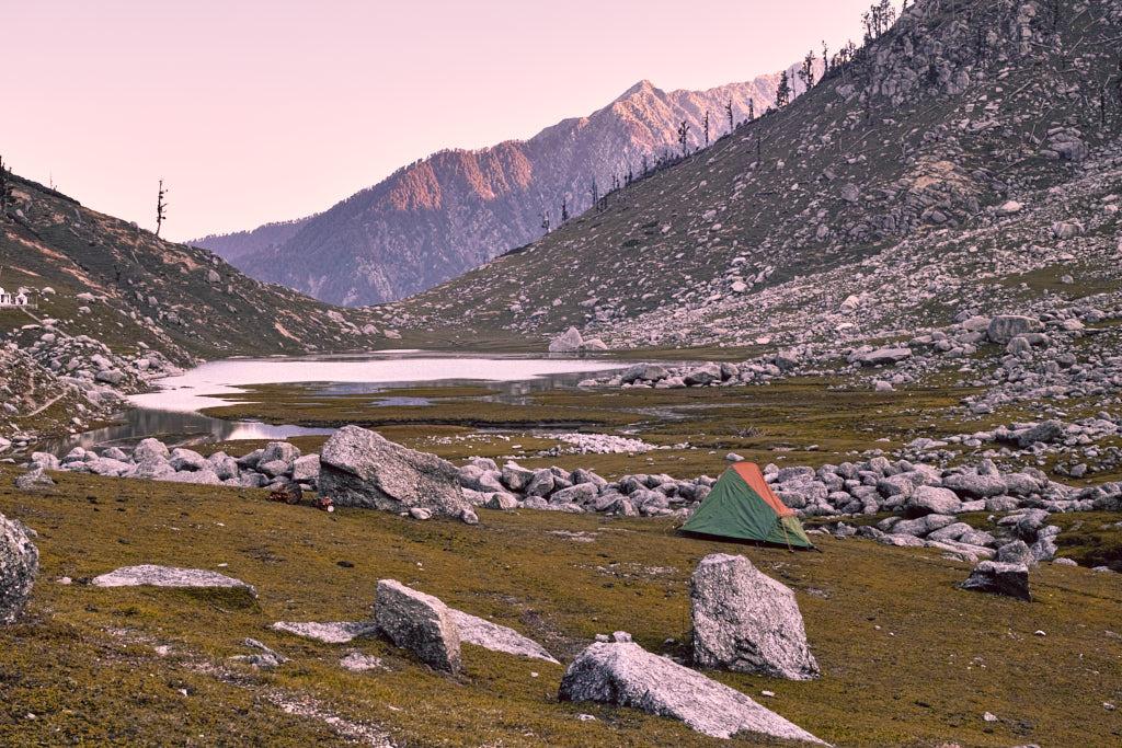 Camping at Kareri Lake