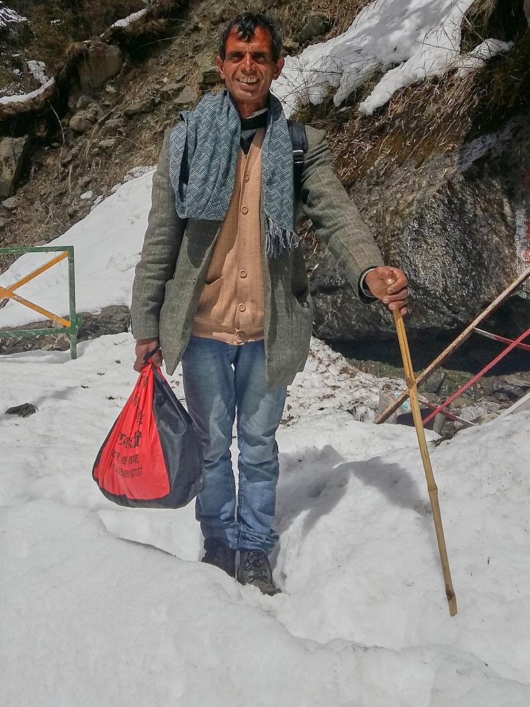 Janki Chatti to Yamunotri (Uttarakhand) trek diary - Mr Bahuna the chowkidar for Yamunotri