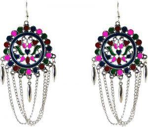 Afghani Hook Earrings Long Designer