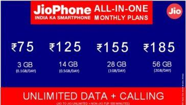 Jio Phone all-in-one plans
