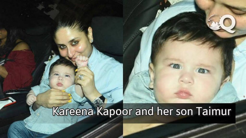 Kareena Kapoor and her son Taimur