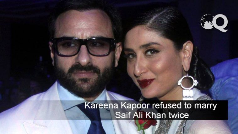 Kareena Kapoor refused to marry Saif Ali Khan twice