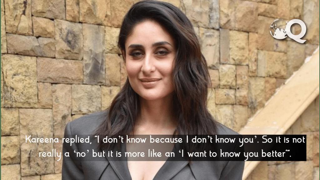 Kareena Says no to Saif Ali Khan