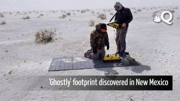 The 'ghostly' footprint discovered by using a special radar in New Mexico
