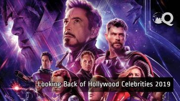 Looking back of hollywood celebrities 2019