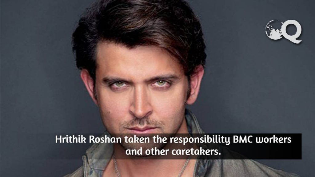Hrithik Roshan takes responsibility of BMC workers