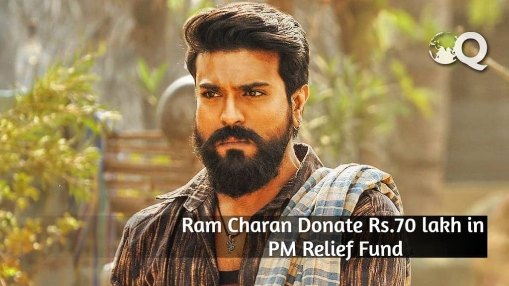 Ram Charan Donate Rs.70 lakh in PM Relief Fund
