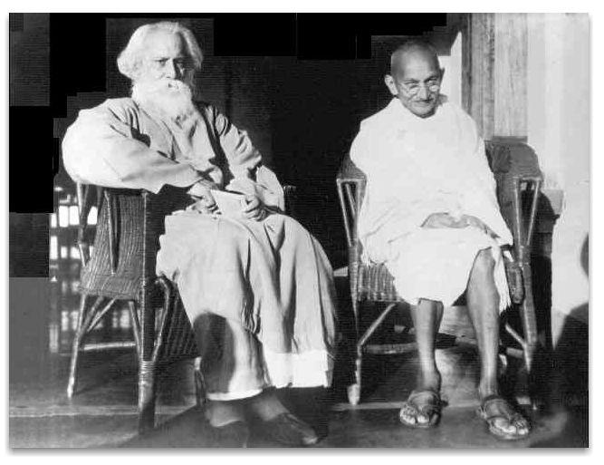 Gandhiji with Rabindranath Tagore