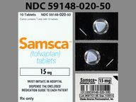 Samsca 15 mg triangular