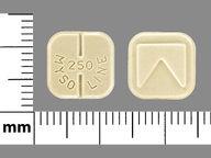 Mysoline 250 mg square