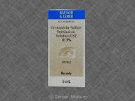 null de 5.0mL of 0.3% de Gentamicin Sulfate, Ophthalmic