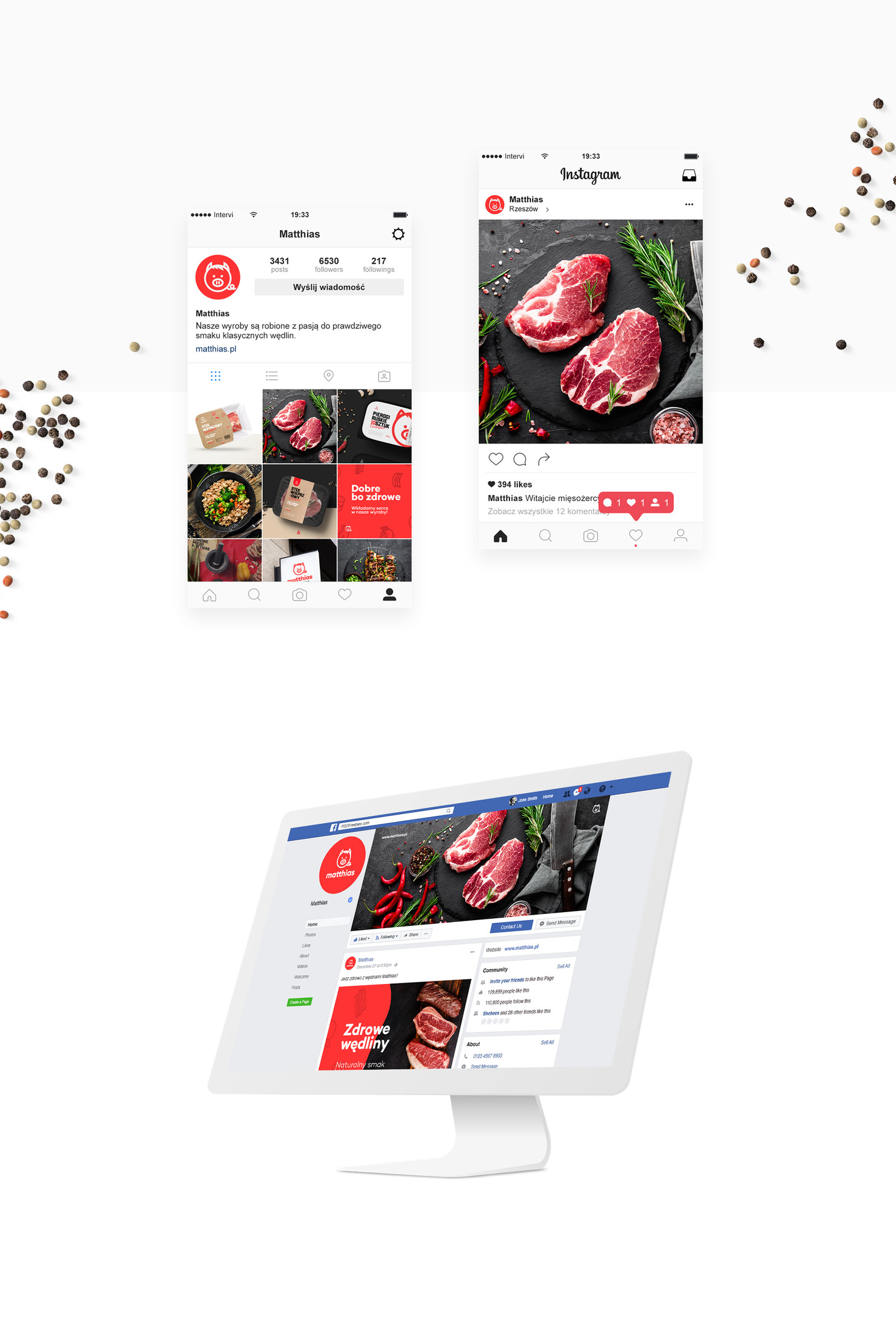 Screeny strony internetowej na kopnuterze i smartfonie