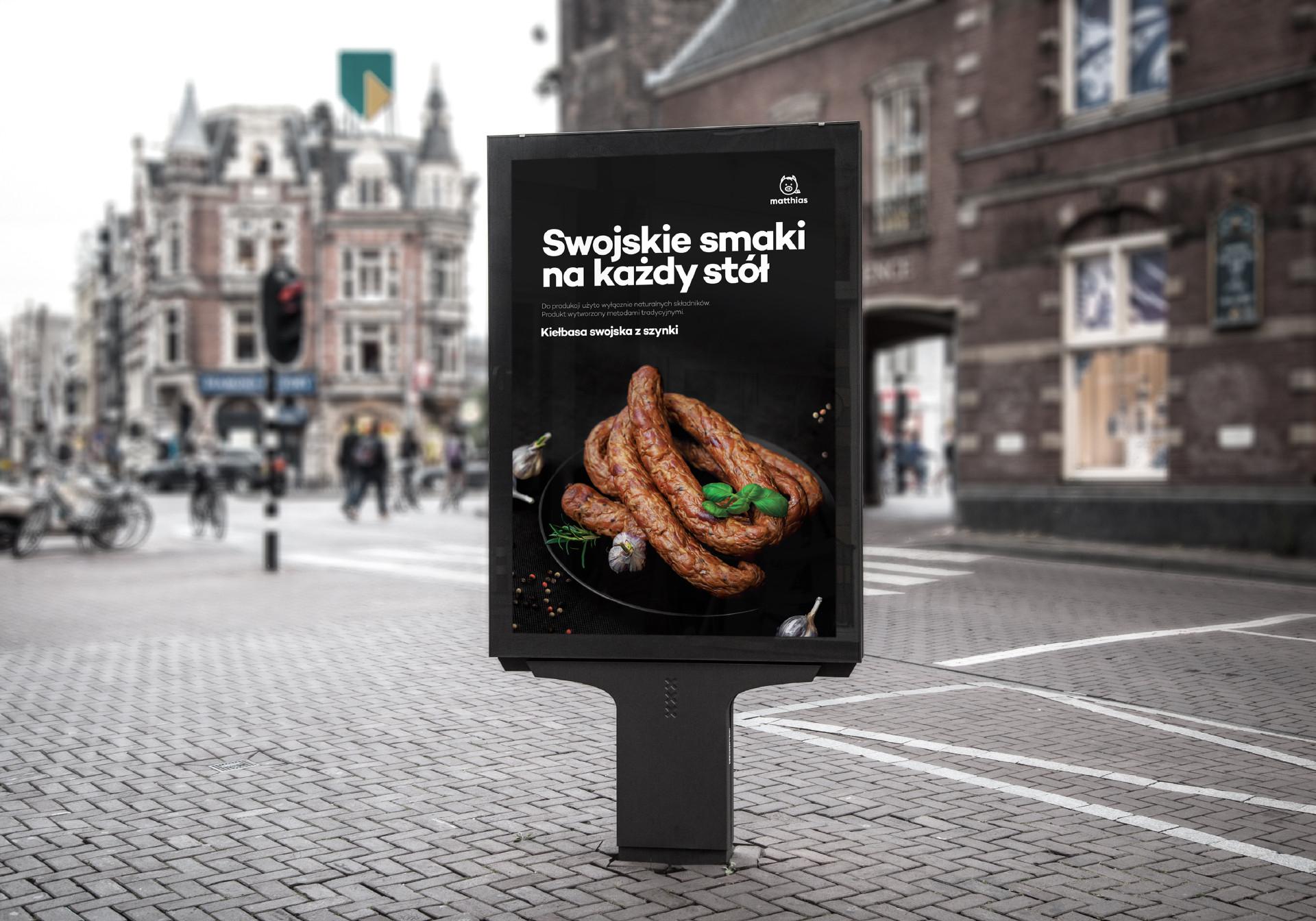 Reklama miejska - swojskie smaki na każdy stół