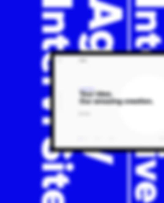 Niebieska grafika Intervi