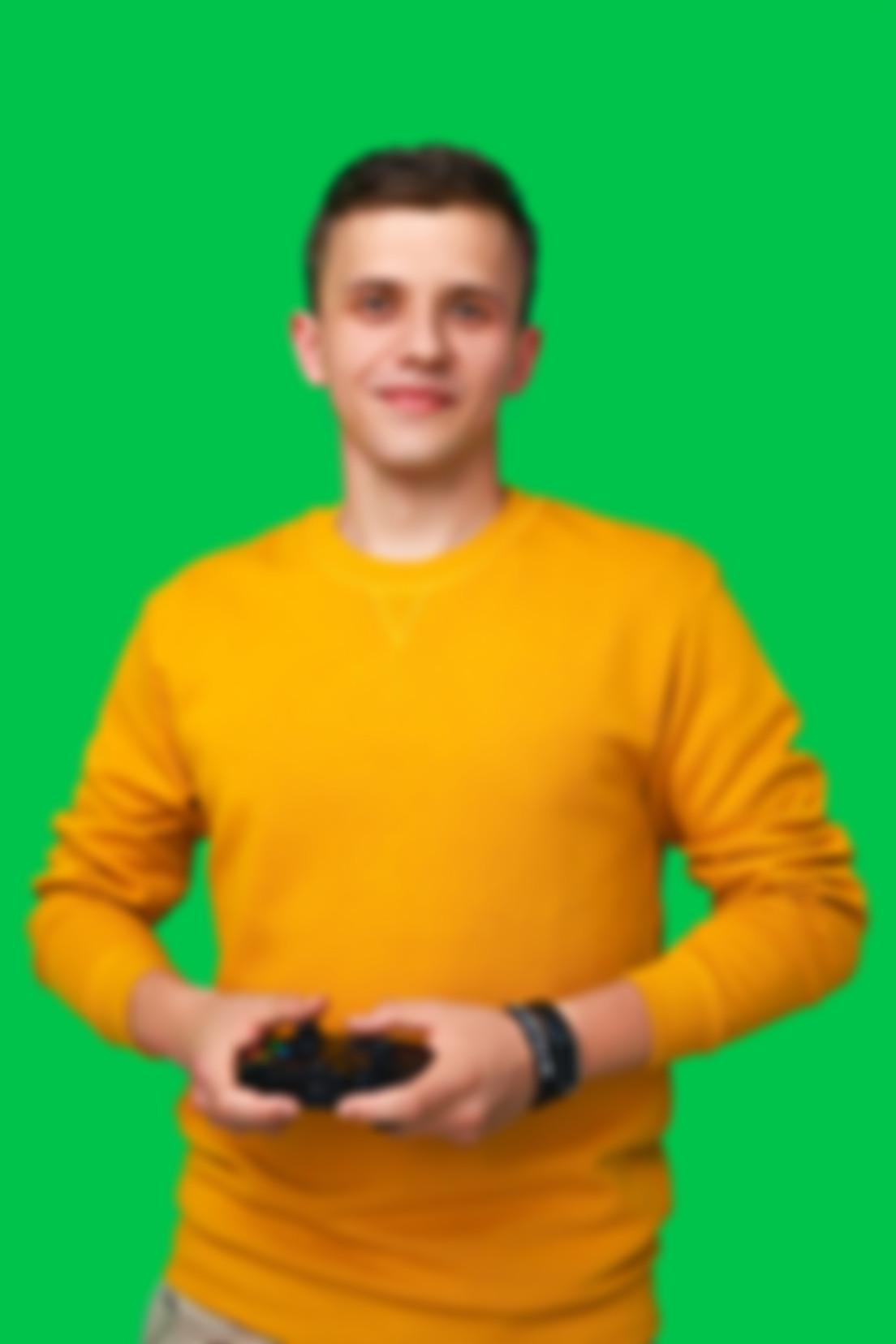 Zdjęcie na zielonym tle Jakuba