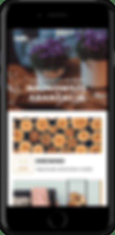 Grafika przedstawiająca smartfon z otwartą stroną internetową.