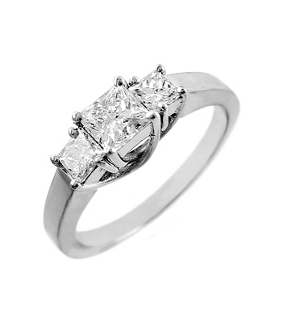 3 STONE DIAMOND RING 18k white gold 3st princess cut diamond ringDETAILSCarat: diamond total weight 0.80cts