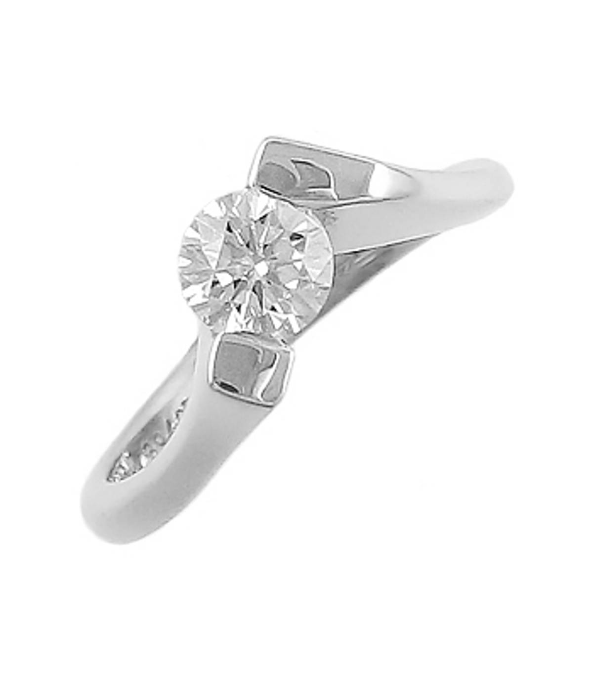 DR74323Diamond solitaire ring in 18 ct white goldPictured item: 0.62cts diamond set in 18k white goldimage 69425