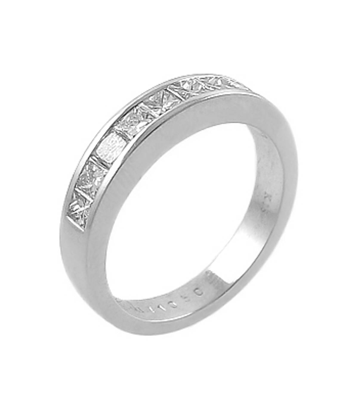 Platinum princess cut 8st diamond channel set ring Carat: Total Diamond Weight 1.25cts Metal: Platinum