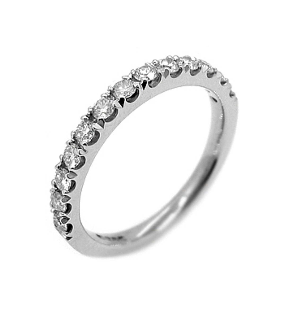 18k white gold 13st brilliant cut diamond claw set eternity ring Carat: total diamond weight 0.43cts Metal: 18k white gold