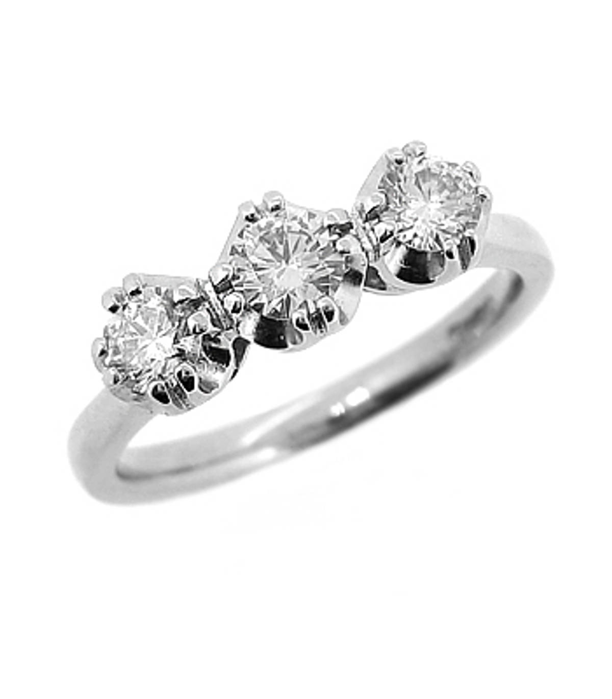 3 STONE DIAMOND RING 18k white gold 3st brilliant cut diamond ringDETAILSCarat: centre diamond 0.20cts /side 2 diamonds total 0.33cts
